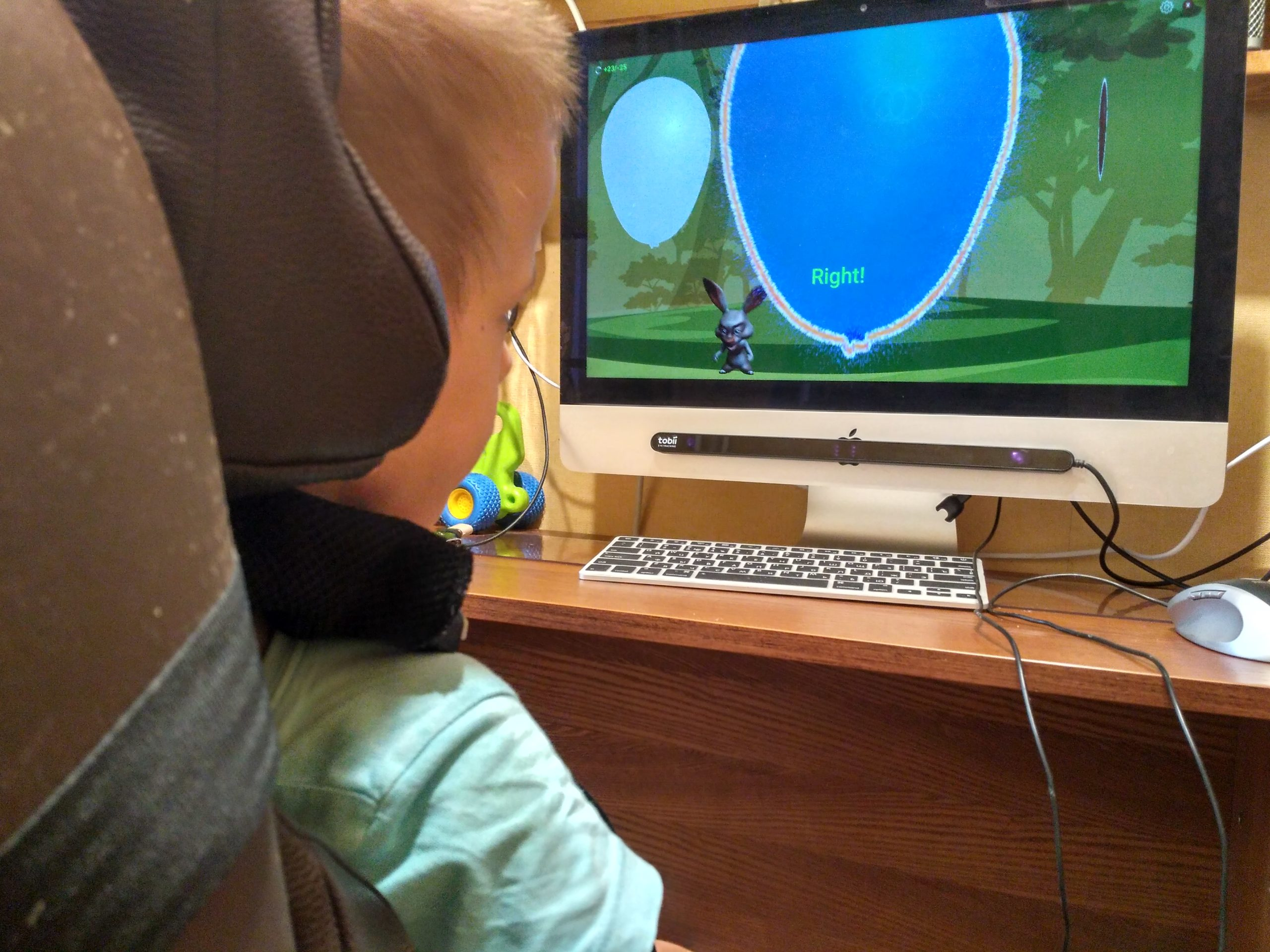 Game for children with movement disorders (using Tobii Eye Tracker)